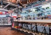 Interior of the electronics shop M-Video in Samara, Russia — Stock Photo