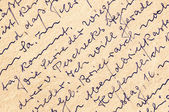 Fragment of an old handwritten letter, written in German. Can be — Стоковое фото