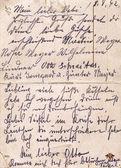 Fragment of an old handwritten letter, written in Germany in 19 — ストック写真