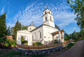 Church of the Tikhvin Icon of the Mother of God in village Lubon — ストック写真