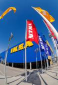 IKEA flags at the IKEA Samara Store — Stock Photo