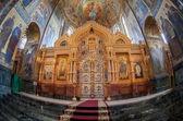 在圣宠物滴血救主的教会的内部 — 图库照片