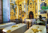 Tomb of Peter the Great in the Peter and Paul cathedral — ストック写真