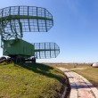 Military russian radar station against blue sky — Stock Photo #70651275