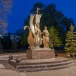 Постер, плакат: Monument to the russian orthodox saints Peter and Fevronia of Mu