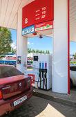 L'auto alla stazione di servizio Lukoil a Samara, Russia — Foto Stock