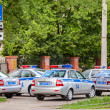 Russian patrol vehicles of the State Automobile Inspectorate on — Stock Photo #75898015