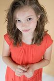 Little modest girl (8 years — Stock Photo