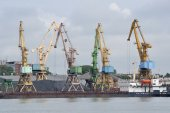 Gantries. Loading of coal — Stock fotografie