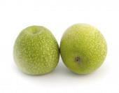 Granny Smith apples against white background — Stock Photo