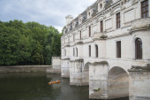 FRANCE, CHENONCEAU - JULY 27, 2014: Detail GALLERIES Chateau de — Stock Photo