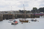 FRANCE, SAINT-MALO - JULY 28, 2014: View of the port and fishing — Stock Photo