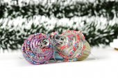 Tinsel with retro style toys — Foto Stock