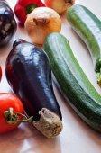 Fresh organic vegetables close-up — ストック写真