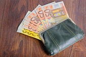 Full wallet on the table — Stock Photo