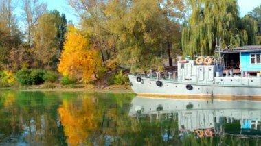 Jezioro Las jesienią — Wideo stockowe