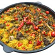 Постер, плакат: Pilaf with meat spices garlic and red pepper