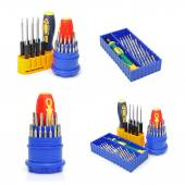 Set of screw-drivers for special works — Stock Photo