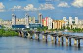 View of the Dnieper river in Kiev — Stock Photo