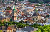 Lviv City in the evening — Stock Photo