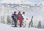 Fotos na memória. schladming da estância de esqui. áustria — Zdjęcie stockowe