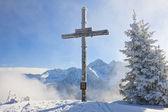Worship the cross on the mountain. Schladming. Austria — Stock Photo