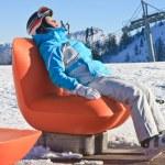 Rest after skiing. Ski resort Schladming. Austria — Stock Photo #55177065