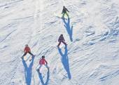 On the slopes of the ski resort. Austria — Stock Photo