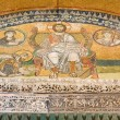 Mosaic image. Emperor Leo VI kneeling before Jesus Christ. Hagia — Stock Photo #56493243