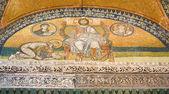 Mosaik-Bild. Kaiser Leo Vi. kniend vor Jesus Christus. Hagia — Stockfoto