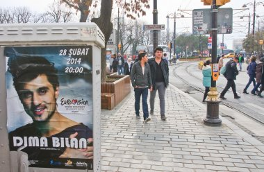 Outdoor billboard. Dima Bilan. Istanbul. Turkey