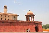 Esplanade Rajpath. The Indian government buildings. New Delhi — Stock Photo