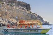 Rocky shore. Rhodes Island. Greece — Stock Photo