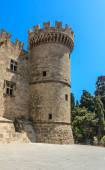 Tower Palace of the Grand Masters. Old Town. Rhodes Island. Gree — Stock Photo