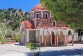 Church on the way to the mountain Tsambika. Rhodes Island. Greec — Stock Photo
