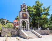Entrance to the church. Rhodes Island. Greece — Stock Photo
