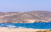 Beach on the isthmus Prasonisi. Rhodes Island. Greece — Stock Photo