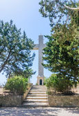 Cross on the observation deck. Mount Filerimos. Rhodes. Greece — Fotografia Stock