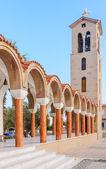 Bell tower of the church of Saint Nektarios. Faliraki . — Стоковое фото