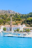 Monastery Panormitis. Symi Island. Greece — Stock Photo