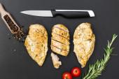 Chicken breast on cutting board. — Stock Photo