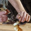 Joinery workshop with wood — Stock Photo #53762161