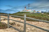 Cabo da Roca Light House. Cabo da Roca is the most westerly poin — Stock Photo