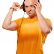 DJ with headphones and handcuffs — Stock Photo #55034825