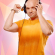 DJ with headphones and handcuffs — Stock Photo #55034839