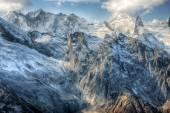 Dombai. Scenery of rockies in Caucasus region in Russia — Stock Photo