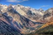 Dombai. Scenery of rockies in Caucasus region in Russia — Foto de Stock