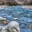 Autumn landscape mountain river North Caucasus — Stockfoto #56161731