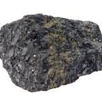 Coal pyrite isolated on white — Stock Photo #57098027