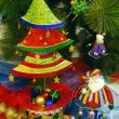 Christmas tree with toys. Background. — Stock Photo #57638169